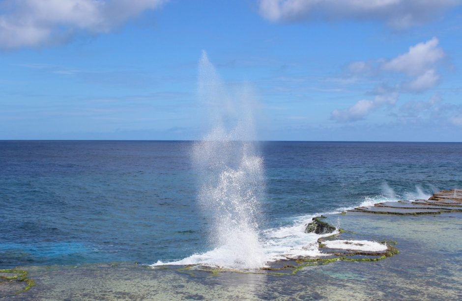 A blowhole in Tonga