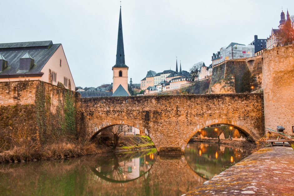 A beautiful bridge crossing the river in Luxembourg