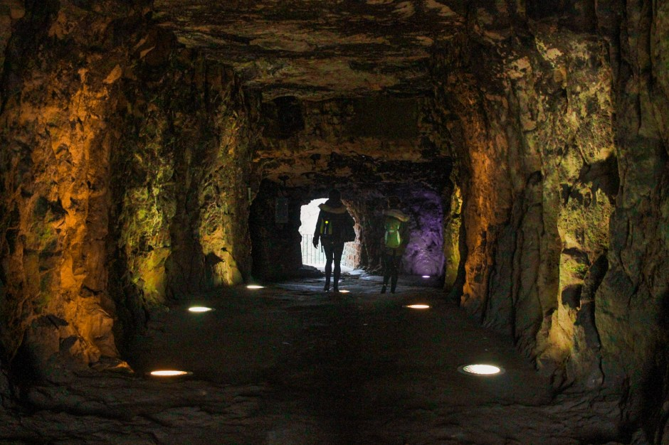Inside the Casemates du Bock in Luxembourg
