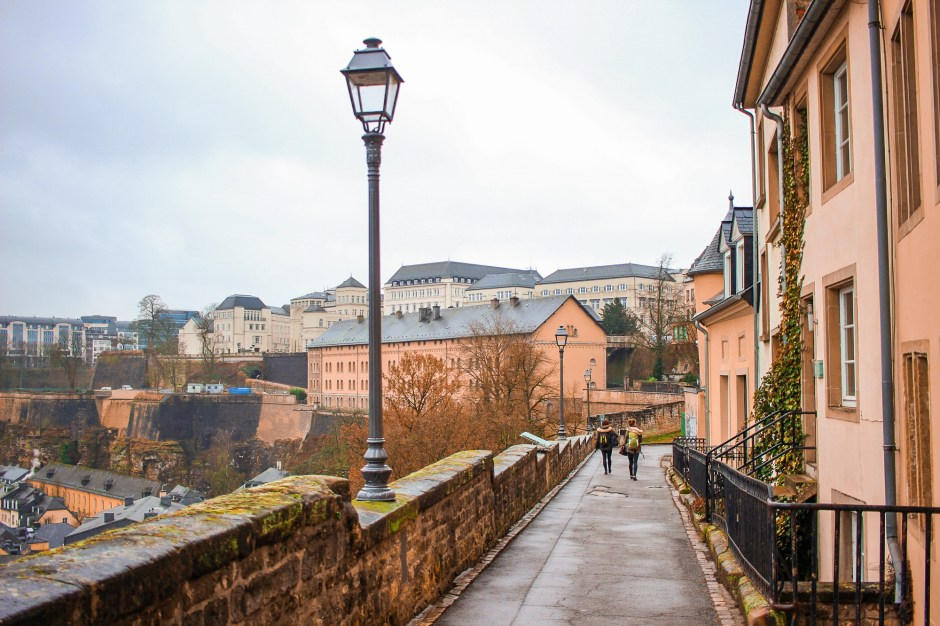 A pretty street in Luxembourg