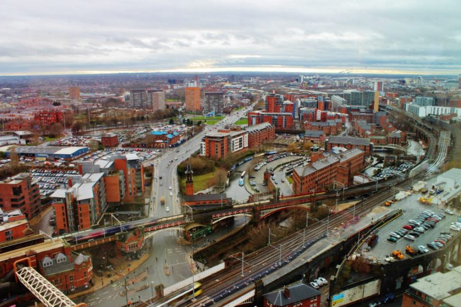 The view across Manchester, UK