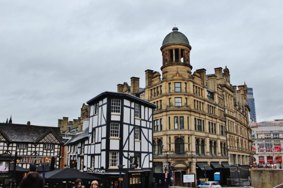 In the city centre, Manchester, UK