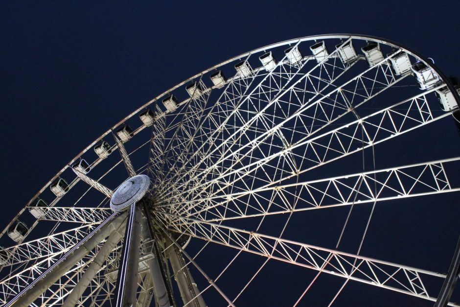 Manchester's Eye, the ferris wheel in the centre of the city, UK