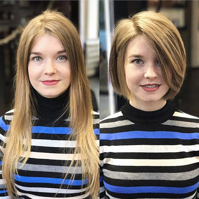 Girls With Short Haircuts Before And After