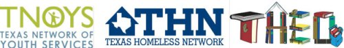 Official Texas Homeless Network logo in navy blue