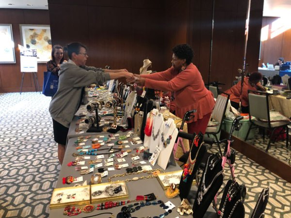 Picture of Crafts being sold at a booth