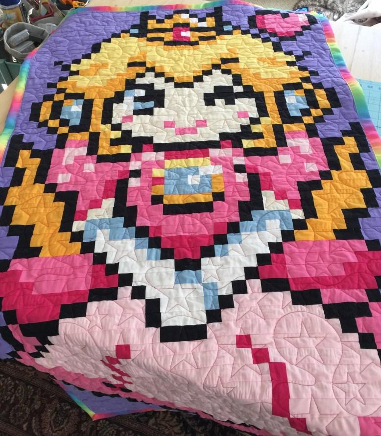 Custom Design Princess Peach Quilt