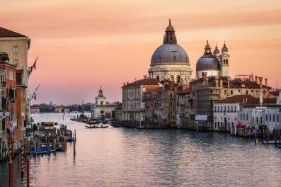 View of Santa Maria della Salute from on top of Accademia bridge.