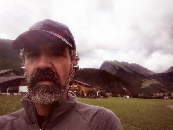 Beim Marathon-Training im Bregenzerwald - Im Hintergrund der Kanisfluh