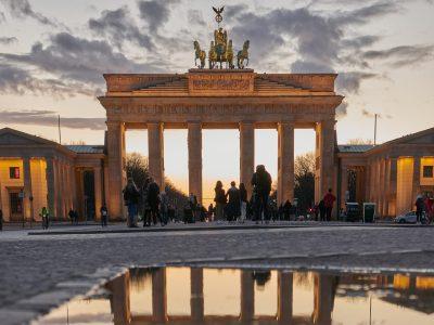 Das Brandenburger Tor bei Sonnenuntergang I