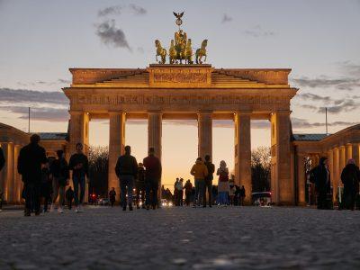 Das Brandenburger Tor bei Sonnenuntergang II