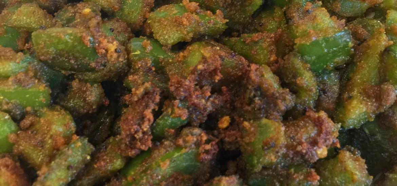 grüne Paprika indisch
