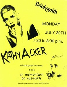 kathy acker poster