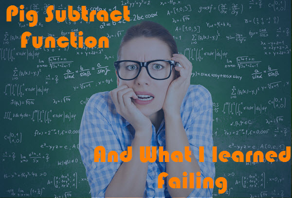 Pig Subtract Function