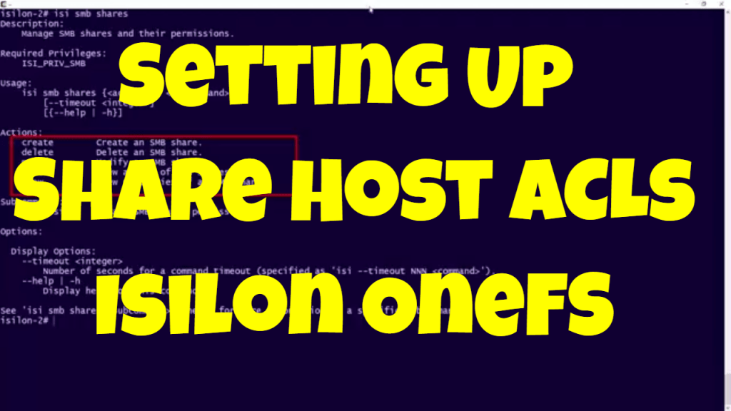 Setting Up Share Host ACLs