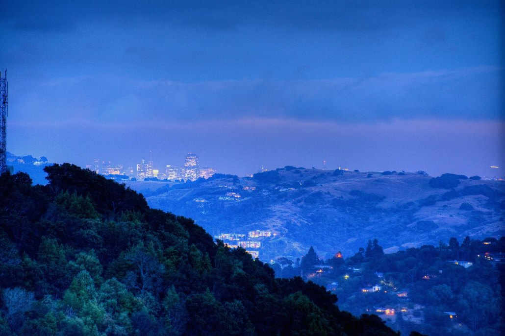 View of San Francisco from 85 Oakmont for sale by Marin's top agent real estate Thomas Henthorne