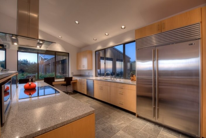 Stainless kitchen at Sea Arches