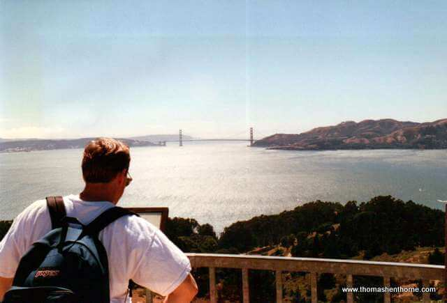 Angel Island looking towards Golden Gate Bridge and Vista Point
