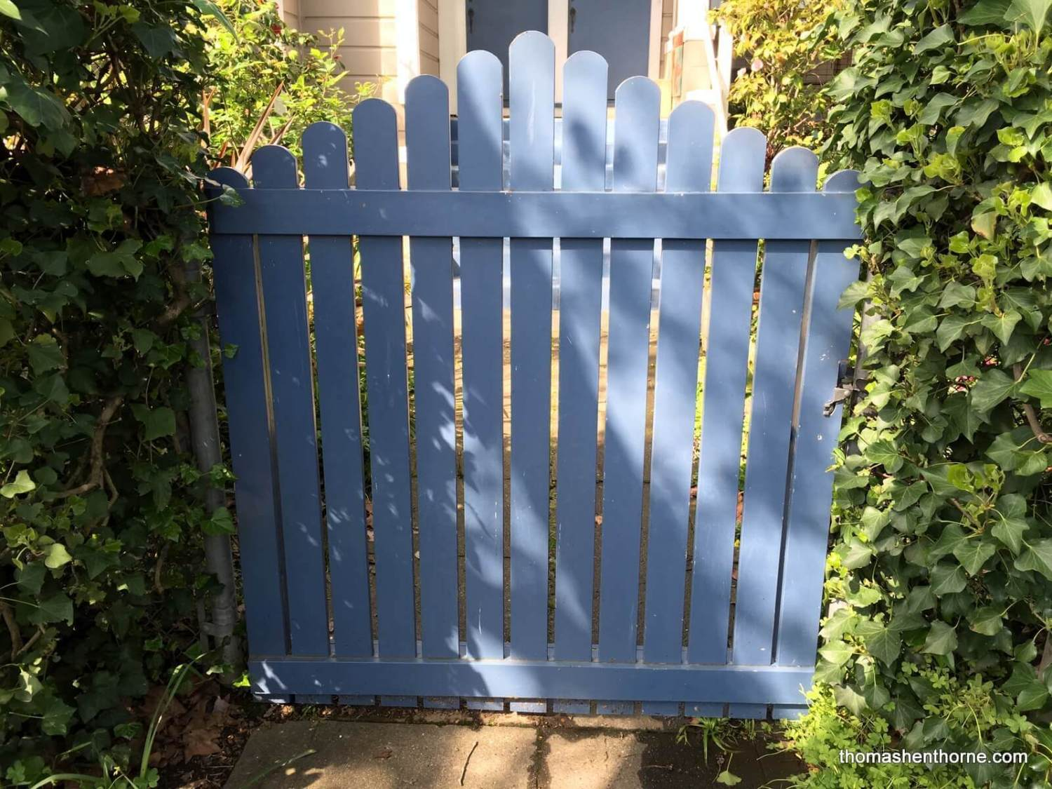 photo of blue gate