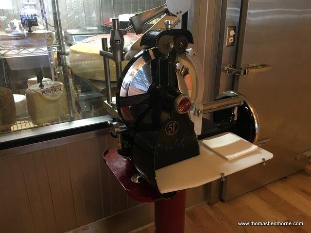 photo of cheese slicing machine