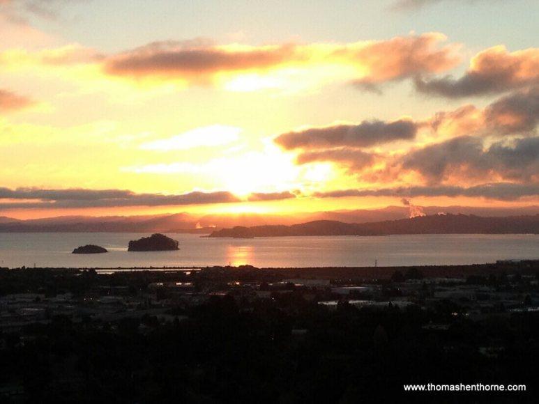 sunrise over the islands