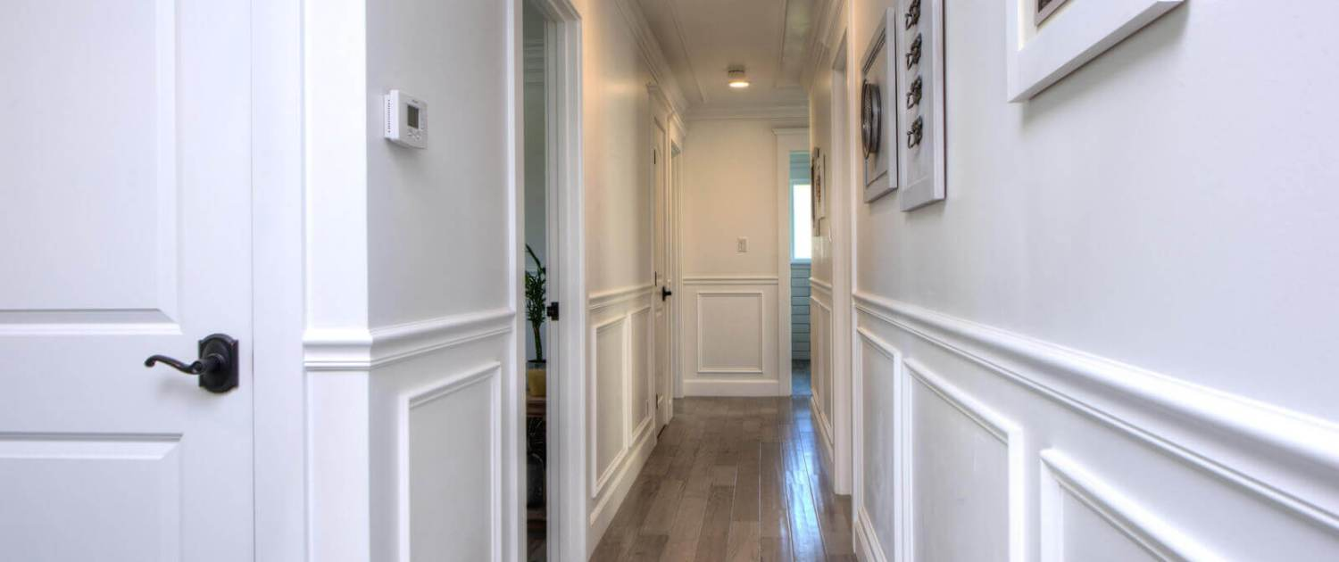 Hallway and wooden floors