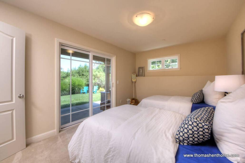 Photo of bedroom 3 opening onto back yard