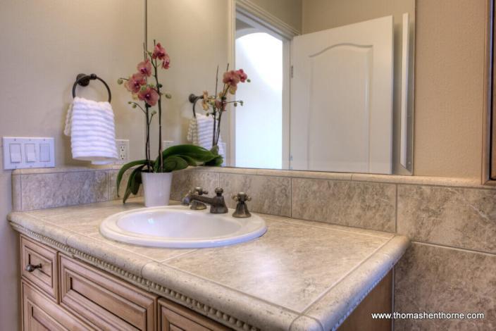 guest / children's bath downstairs photo of sink