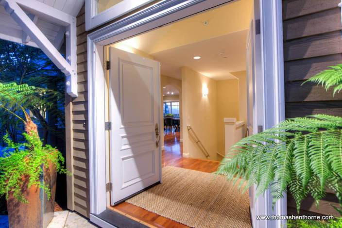 Front double entry to 78 Southern Heights in San Rafael