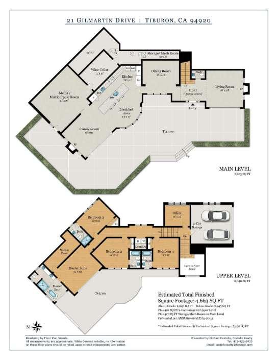 21 Gilmartin Dr Tiburon Floorplan