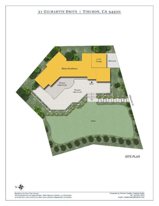 Siteplan for 21 Gilmartin Dr Tiburon