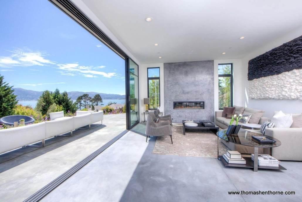 Indoor outdoor living at 21 Gilmartin Drive Tiburon