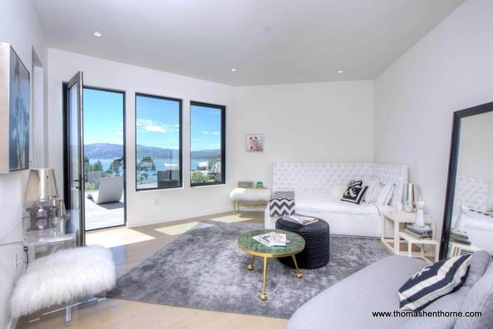 bedroom with view in distance