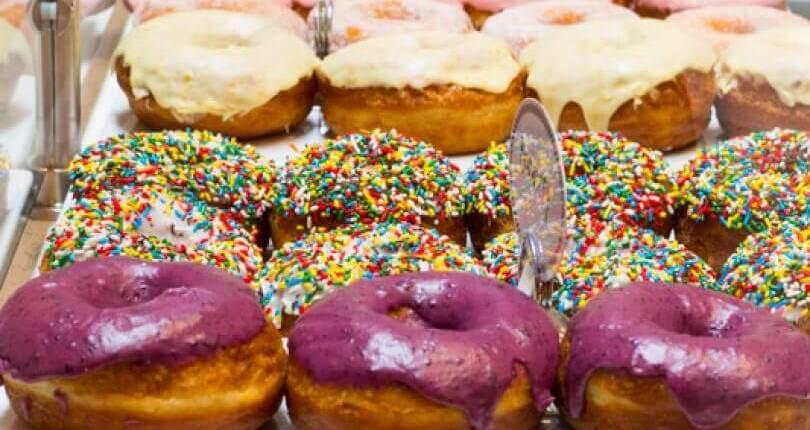 Photo of doughnuts at Johnny Doughnuts in San Rafael