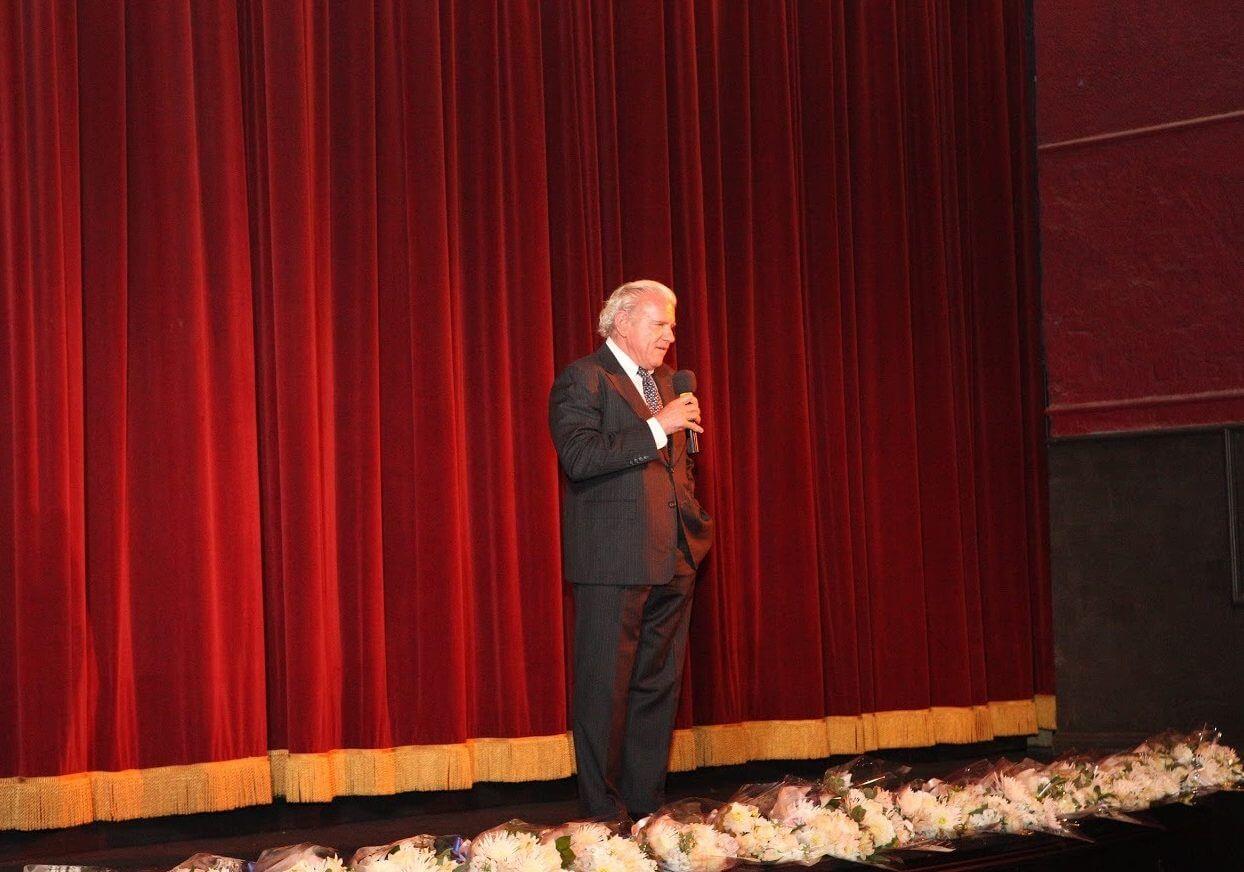 Bill Bullock Making an Announcement