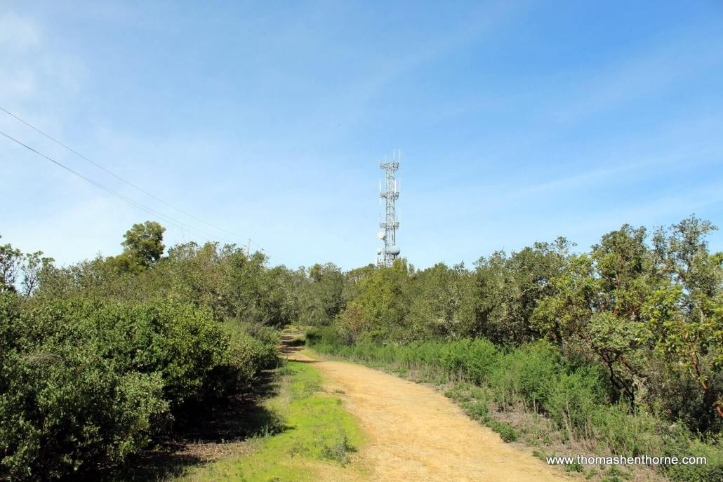 Trail near cell phone tower
