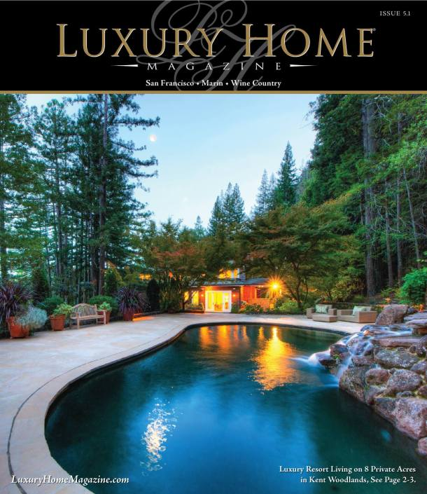 Luxury Home Magazine cover featuring 8 Woodland Place