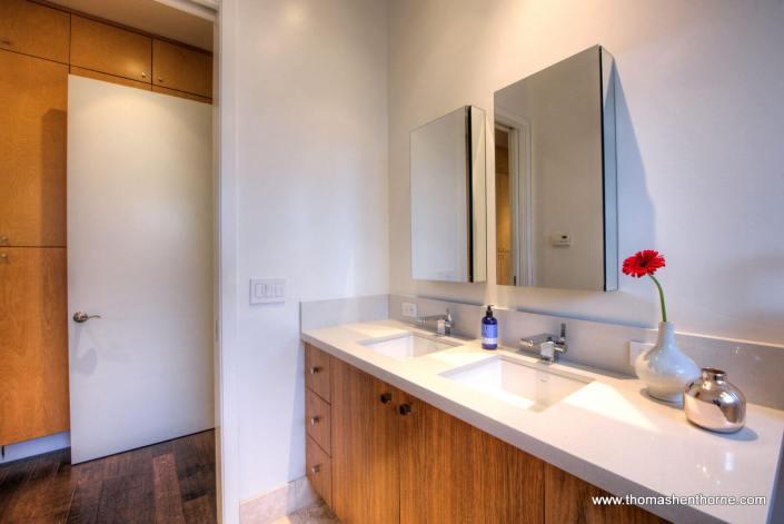Dual vanity in master bathroom