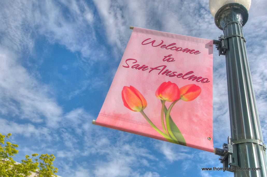 welcome to San Anselmo sign