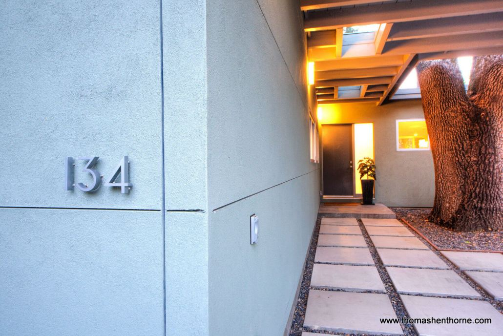 entry for 134 Madrone in San Anselmo, California