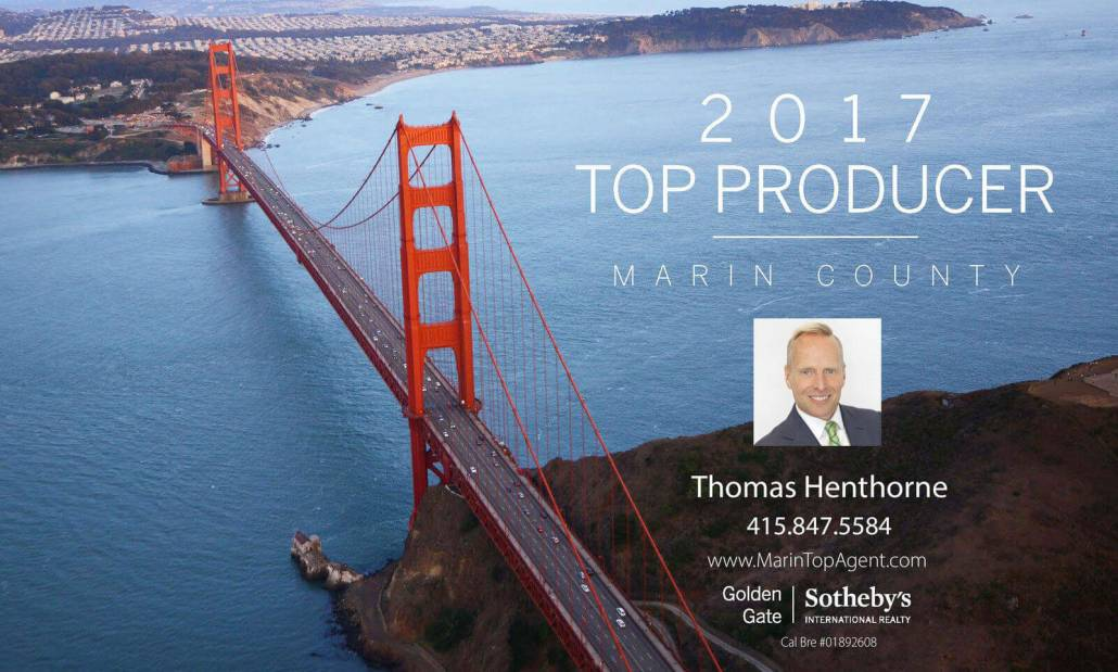 Marin County Top Real Estate Agent 2017 Graphic