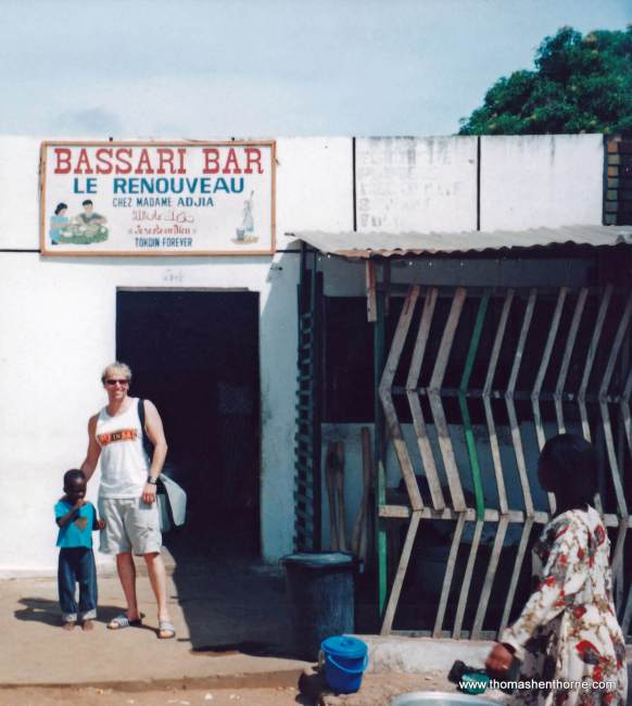 Outside my Favorite Restaurant – Bassari Bar (the best Fufu in town)