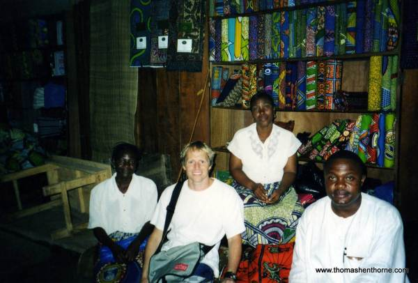 Choosing African fabrics for the Boxer Short Business with Paul the Tailor