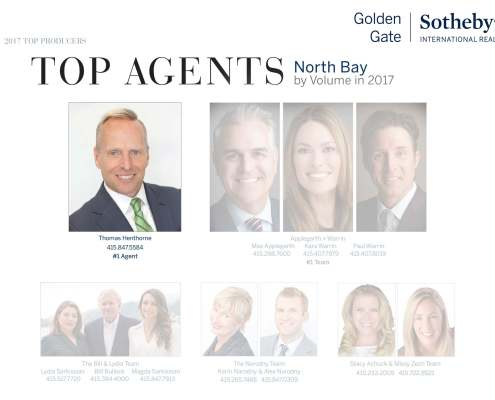 Thomas Henthorne Top Marin County Real Estate Agent for 2017