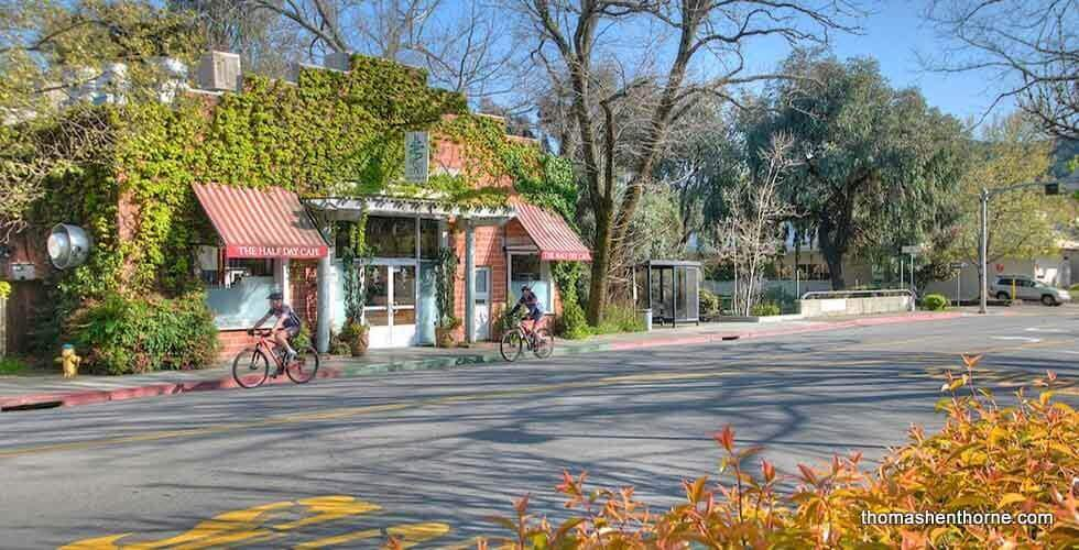 Kentfield Homes for Sale Realtor - Bicycles in front of Half Day Cafe
