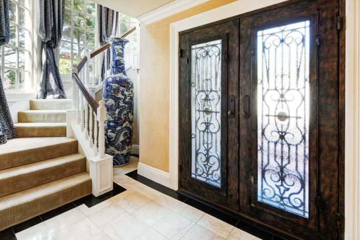 Front door and stairway at 190 Gilmartin Drive