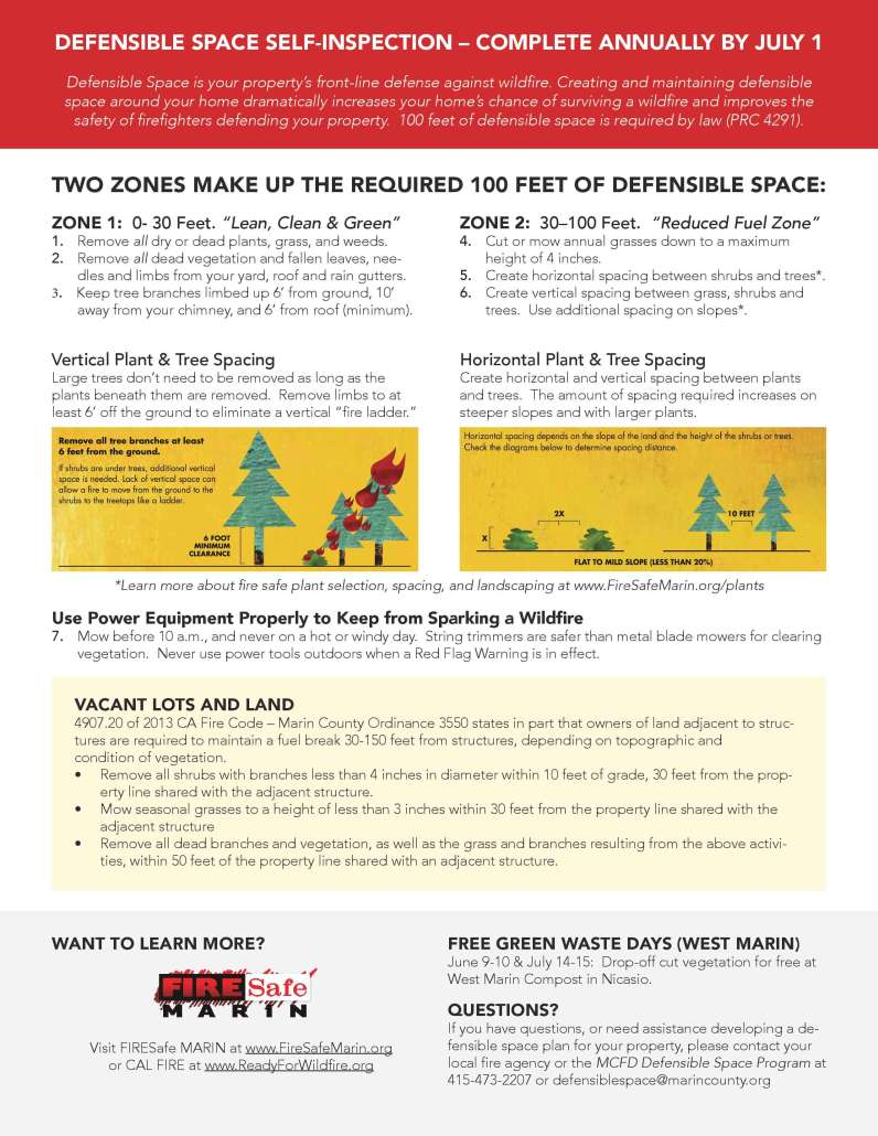 Marin County Fire Prevention Brochure Page 2