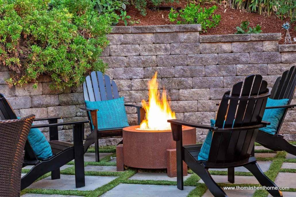 Gas-Plumbed Fire Pit