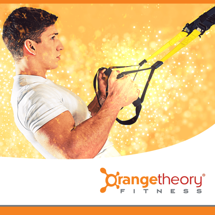 OrangeTheory logo plus man working out