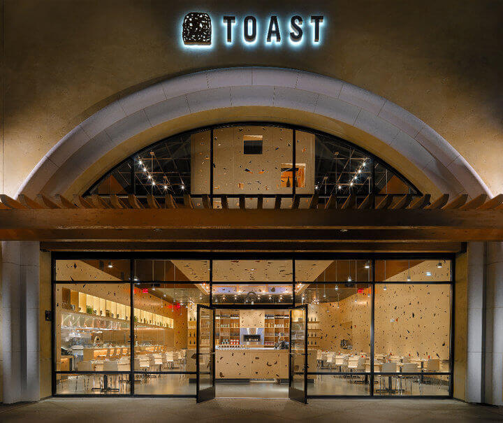 Toast front of restaurant
